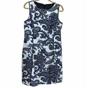 Talbots Dress Sz 14P Black Cotton Modal Sleeveless